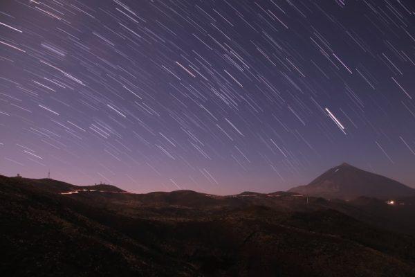 Ver la lluvia de Estrellas de las Perseidas en Canarias