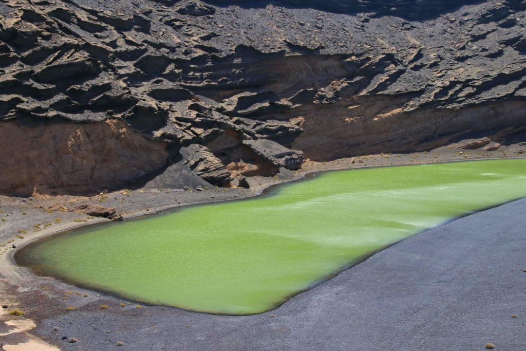 El charco verde de Lanzarote