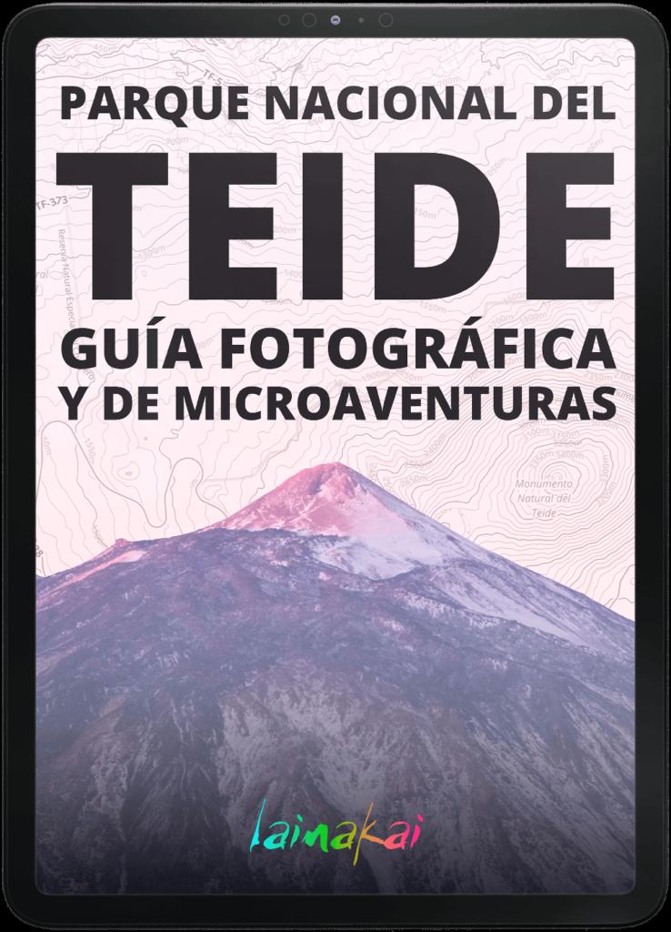 Guía fotográfica del Parque Nacional del Teide en iPad pro