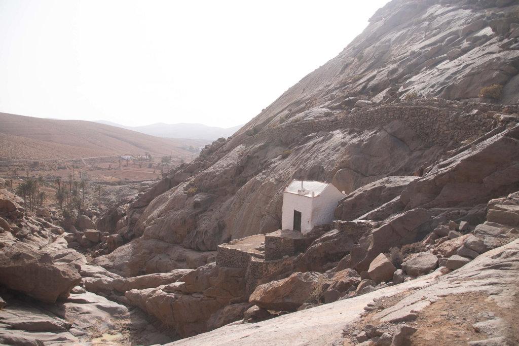 Ermita de Las Peñitas en el Barranco de Las Peñitas de Fuerteventura