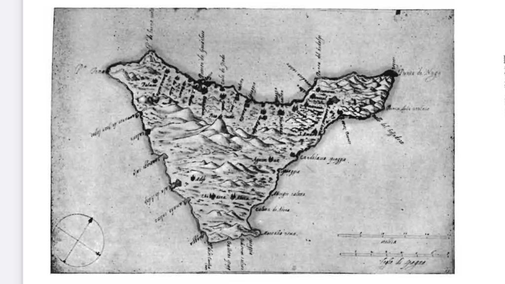 Mapa de Tenerife por Torriani