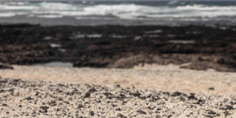Bajo de la Burra, playa del Mejillón, Popcorn Beach, Fuerteventura.